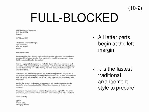 Blocked Style Letter format New when Do I Use A Semi Block Letter Quora