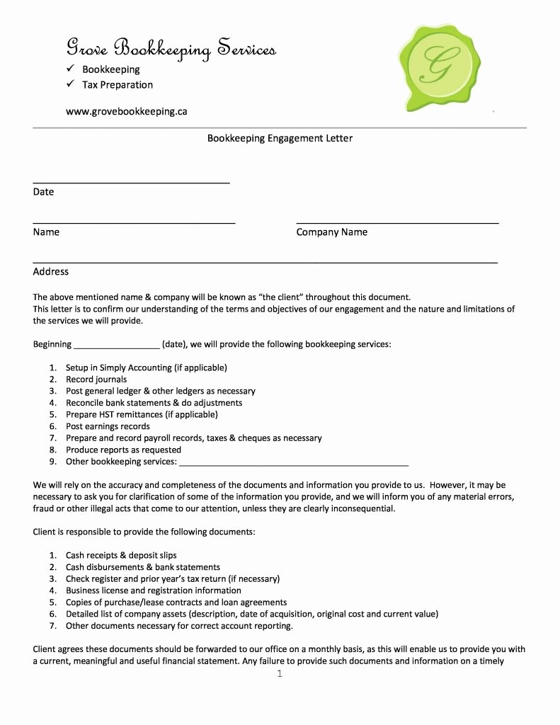 letter of engagement template bookkeeper uk