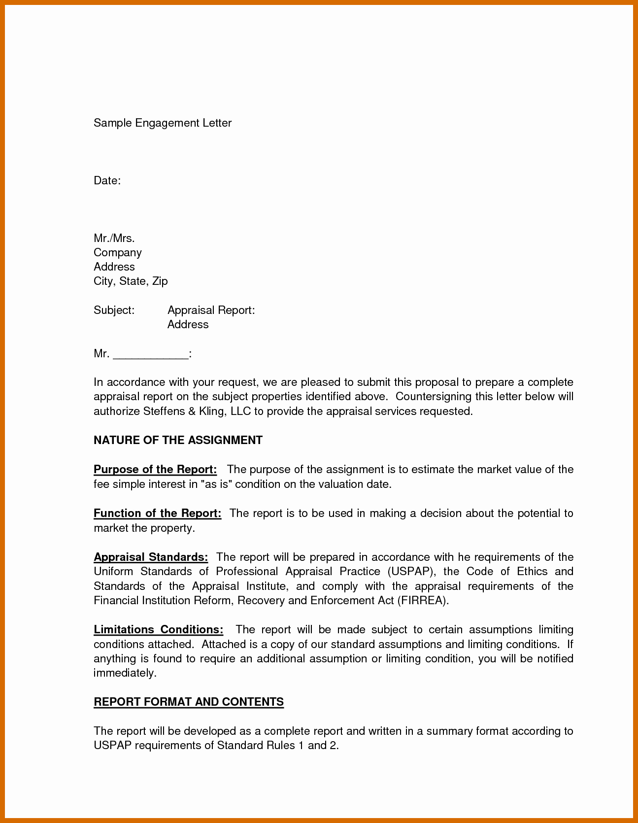 Bookkeeper Contract Engagement Letters Fresh 11 12 Sample Engagement Letter