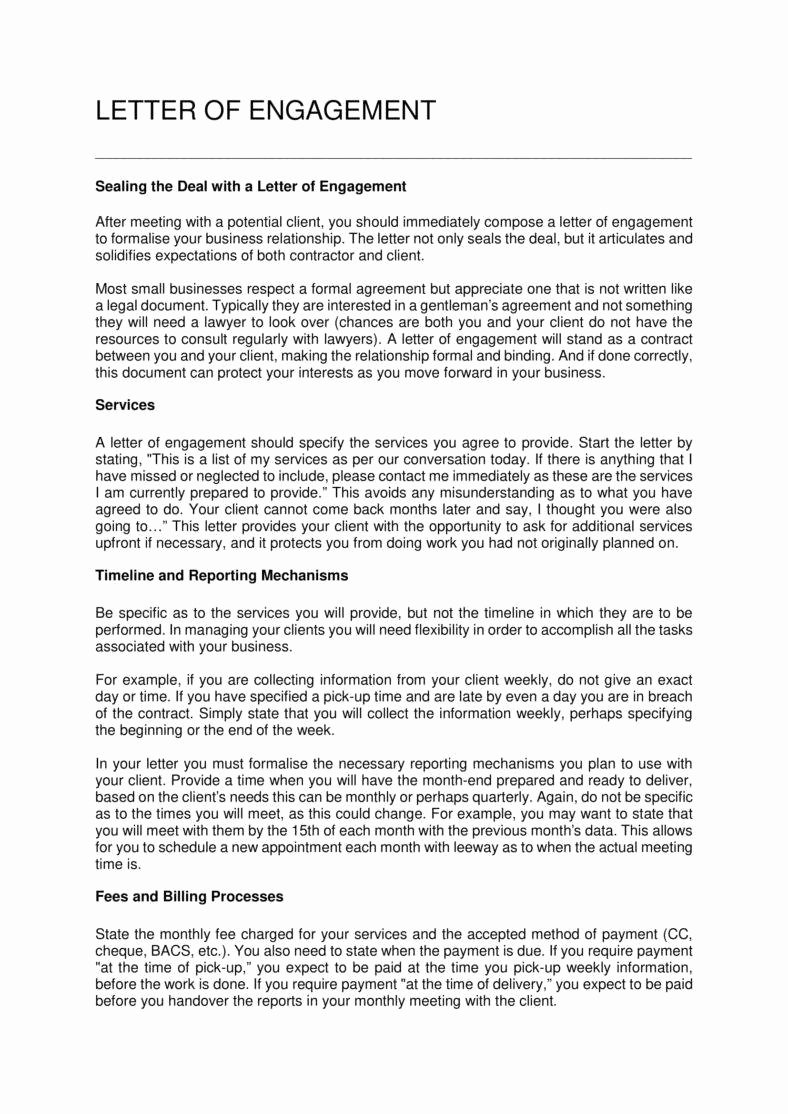 35 bookkeeper contract engagement letters