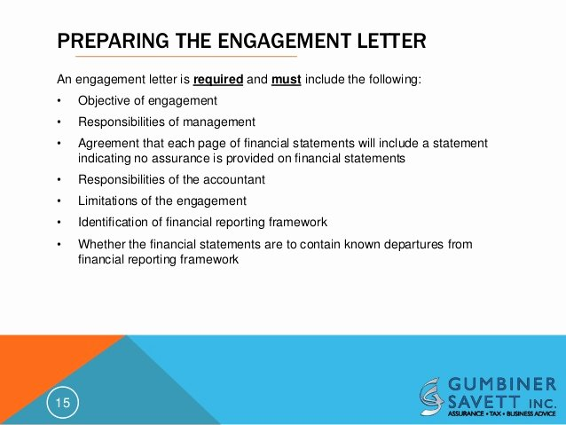 Bookkeeper Contract Engagement Letters Inspirational An Update On Statements On Standards for Accounting and