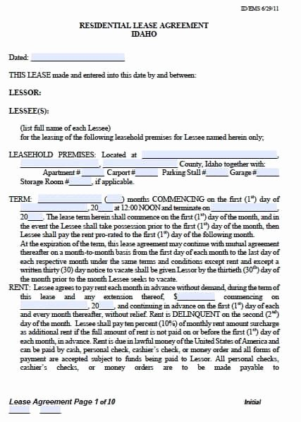 Bounce House Rental Agreement Template Best Of form Lease Tenant