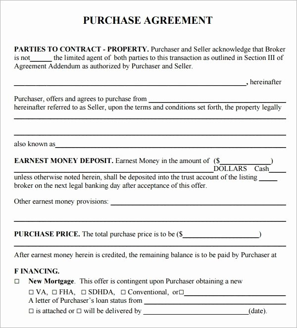 Bounce House Rental Agreement Template Elegant Free Real Estate Purchase Agreement Pdf