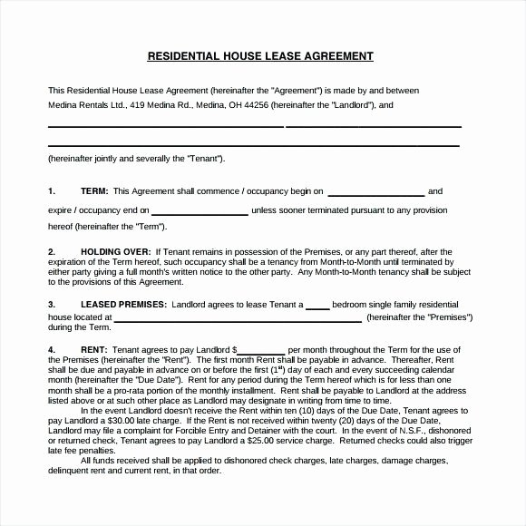 Bounce House Rental Agreement Template Inspirational Lease for House – Easygocanadafo