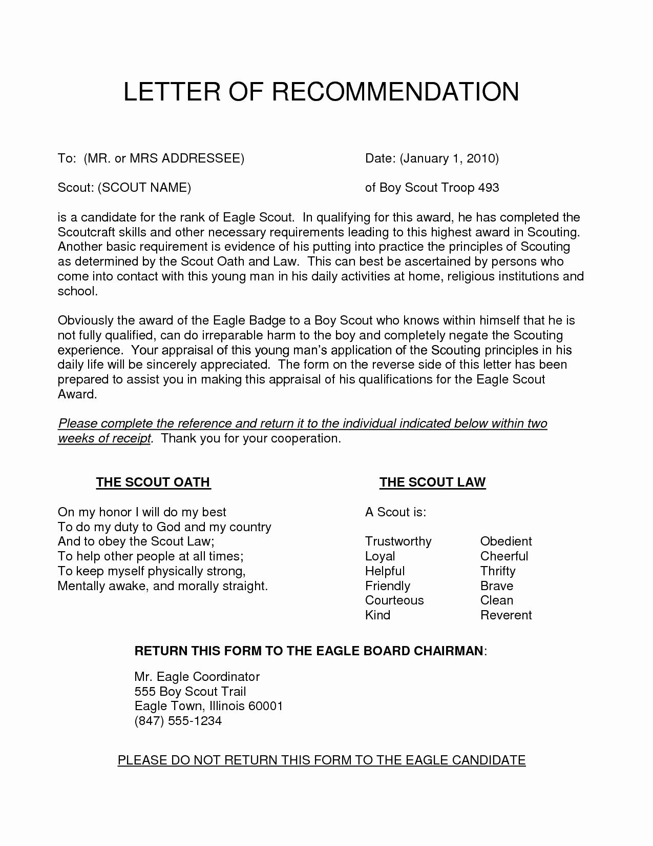 Boy Scout Letter Of Recommendation Beautiful Content 2016 10 Eagle Scout