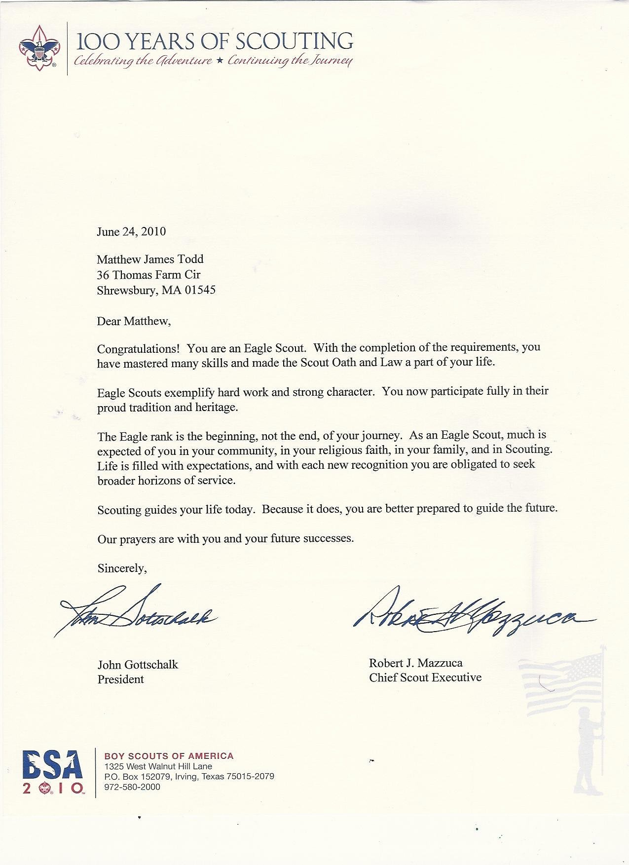 Boy Scout Letter Of Recommendation Beautiful Eagle Scout Re Mendation Letter Template Examples