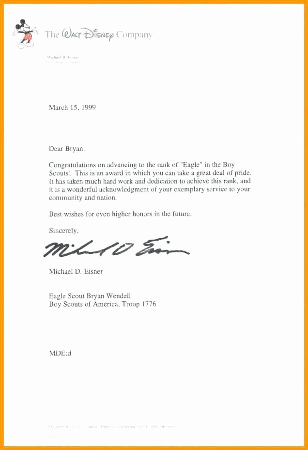 Boy Scout Letter Of Recommendation Luxury Eagle Scout Reference Letter – Ardinifo