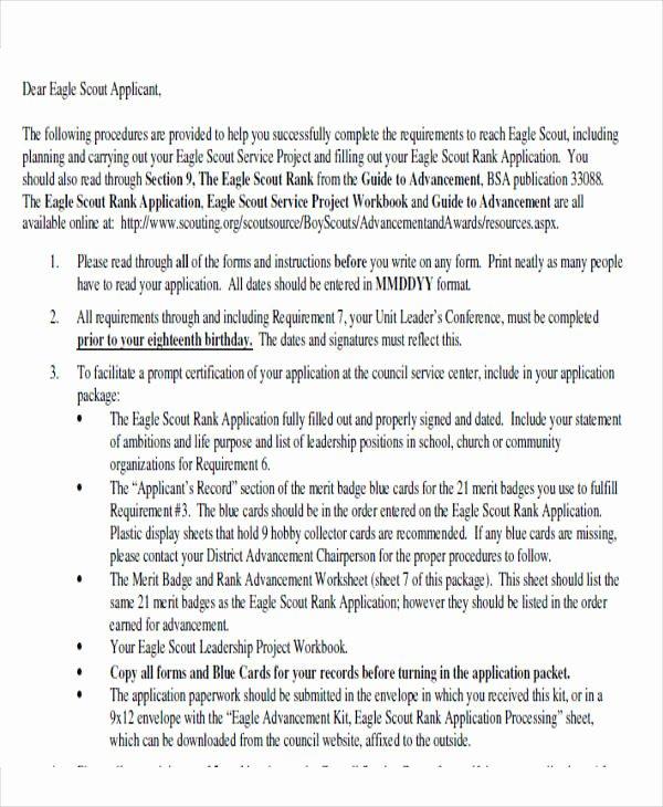 Boy Scouts Letter Of Recommendation Unique 9 Sample Eagle Scout Re Mendation Letter Templates