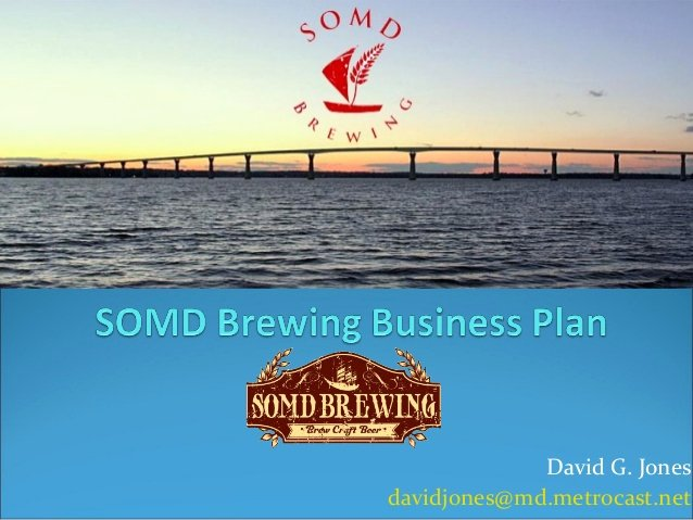 Brewery Business Plan Template Inspirational somd Brewing Business Plan V2