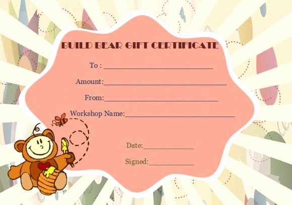 Build A Bear Birth Certificate Template Fresh Build A Bear Certificate Template 15 attractive