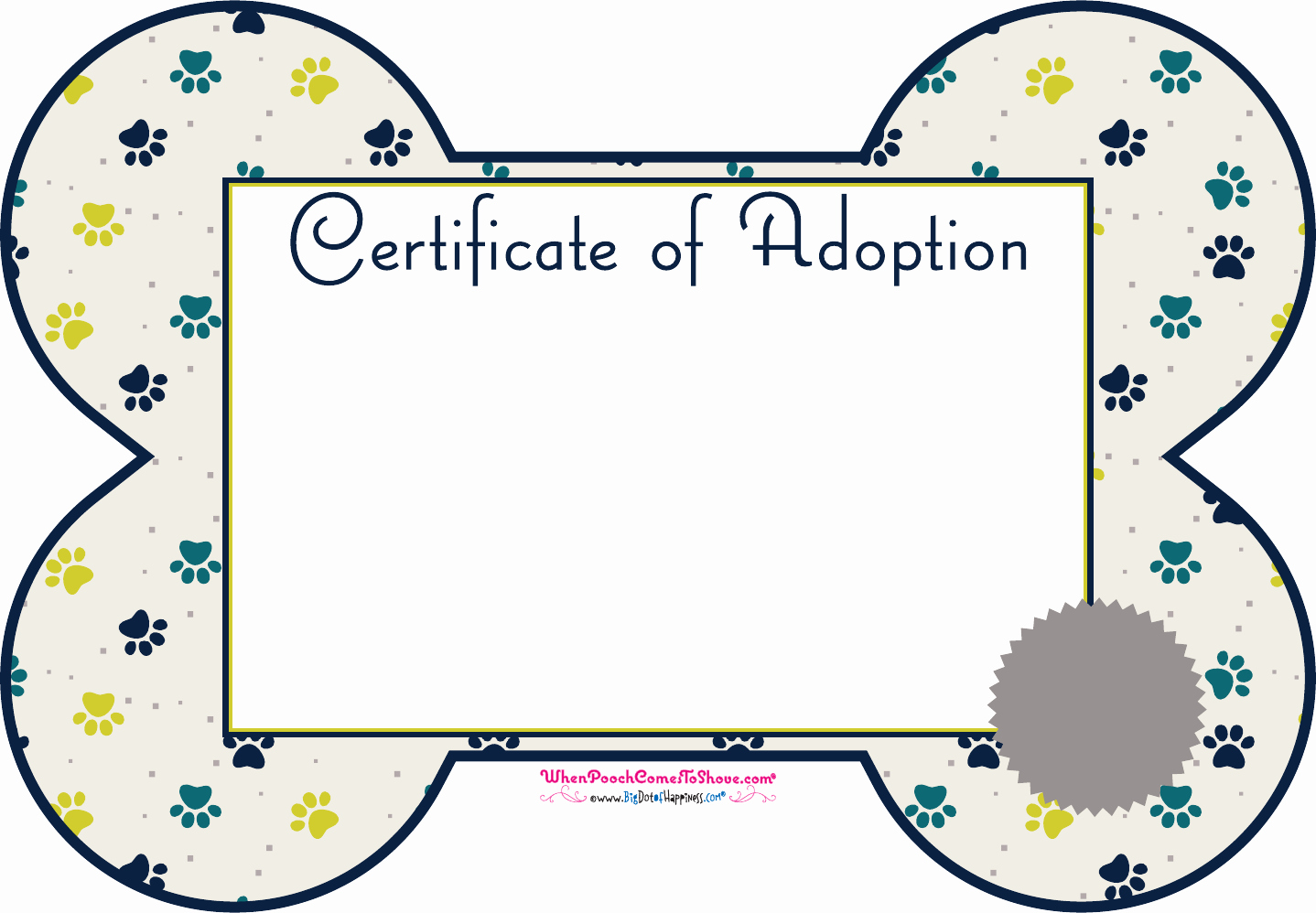 Build A Bear Birth Certificate Template Inspirational Download Pet Adoption Certificate for Free formtemplate