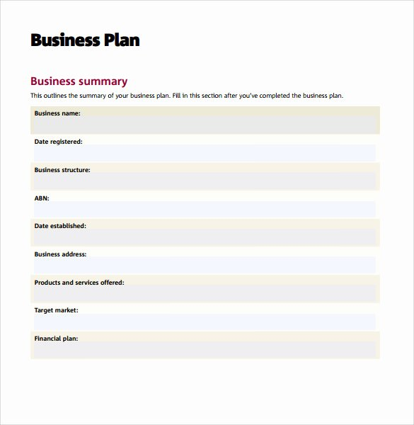 Business Action Plan Template Awesome 11 Sample Business Action Plans