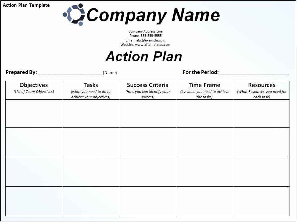 Business Action Plan Template Awesome format Of Business Action Plan Template – Excel Templates
