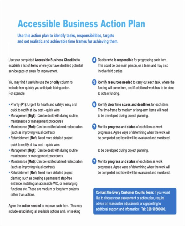 Business Action Plan Template Elegant 16 Action Plan Templates