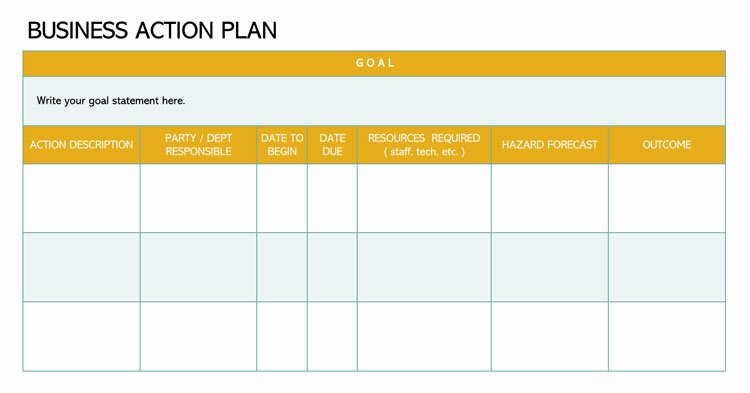 Business Action Plan Template Lovely 58 Free Action Plan Templates & Samples An Easy Way to