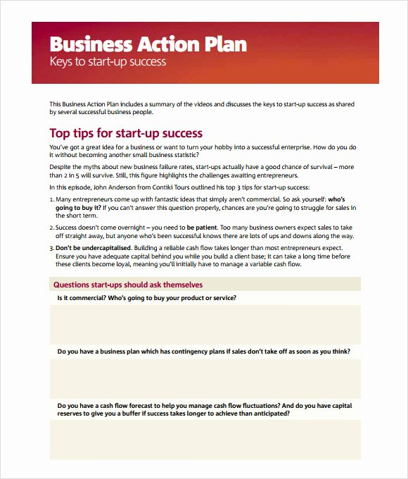 Business Action Plan Template Lovely Brilliant Tips and Keys to Start Up Success for Business