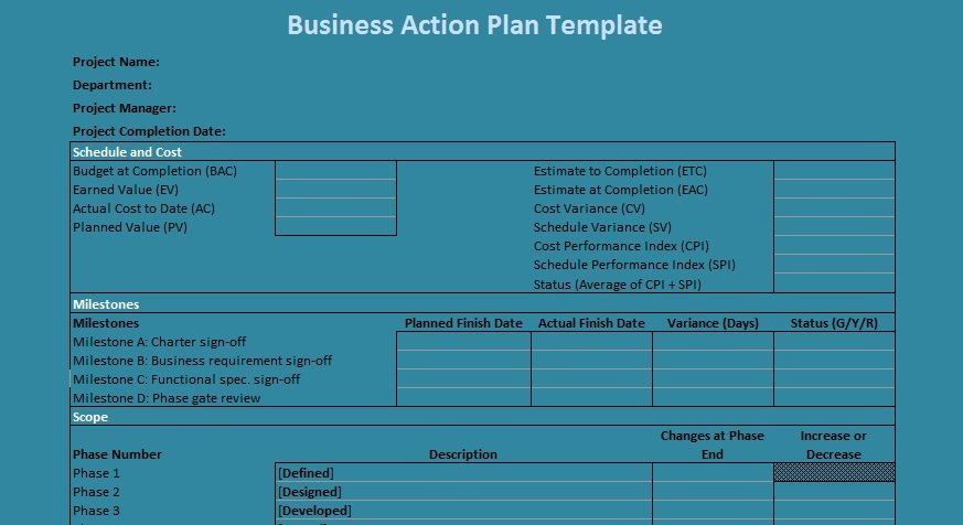 Business Action Plan Template Lovely Business Action Plan Template Excel