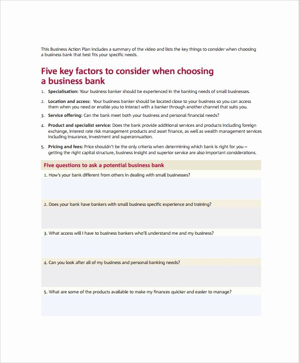 Business Action Plan Template Luxury 12 Sample Employee Action Plan Templates