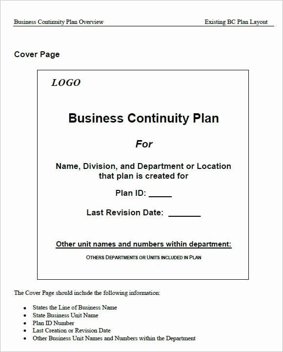 Business Contingency Plan Template Beautiful 7 Free Business Continuity Plan Templates Excel Pdf formats
