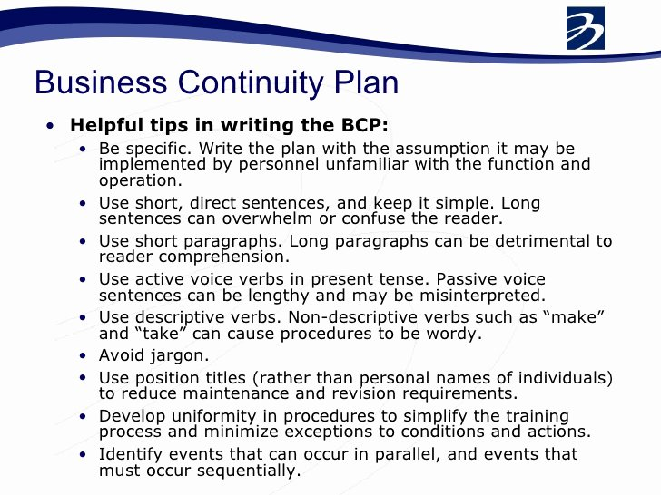 Business Contingency Plan Template Best Of Bcp Business Continuity Plan Pdf