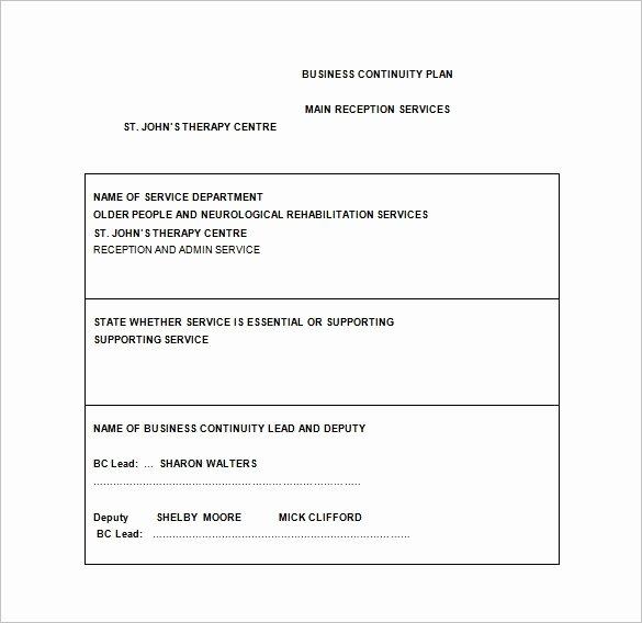 Business Contingency Plan Template Unique 13 Contingency Plan Templates – Free Sample Example