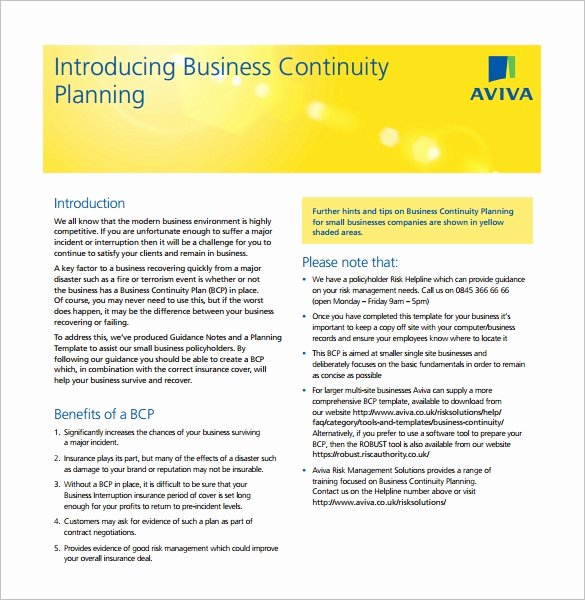 Business Continuity Plan Template Lovely Business Continuity Plan Template 11 Download Free Word