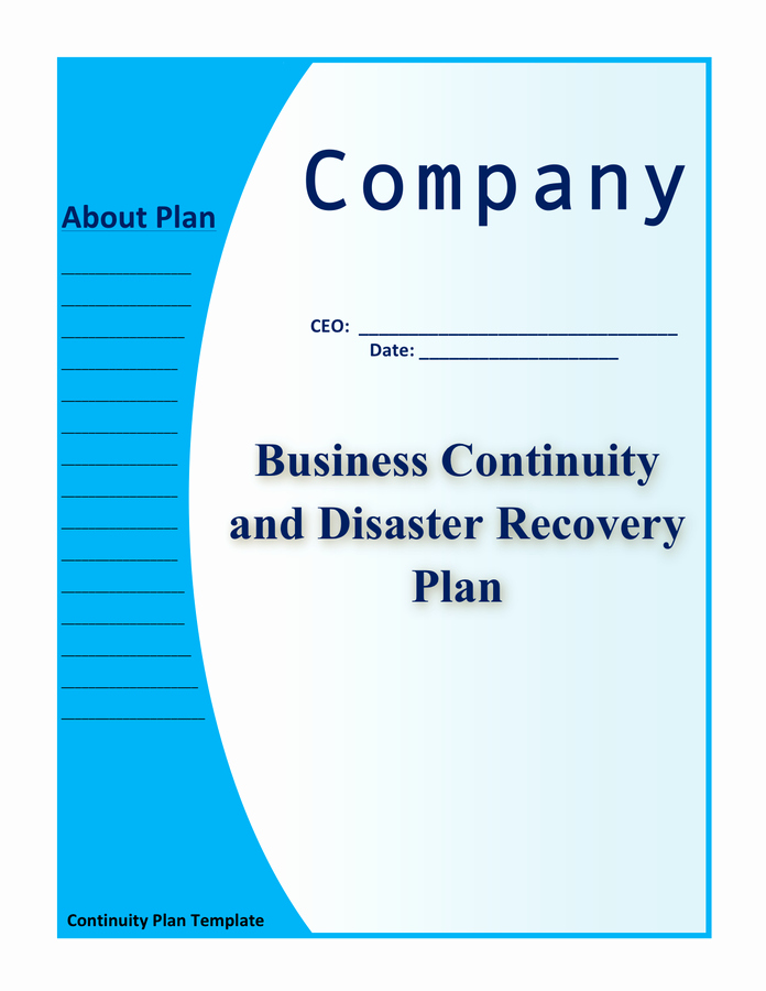 Business Continuity Plan Template Unique Business Continuity and Disaster Recovery Plan Template In