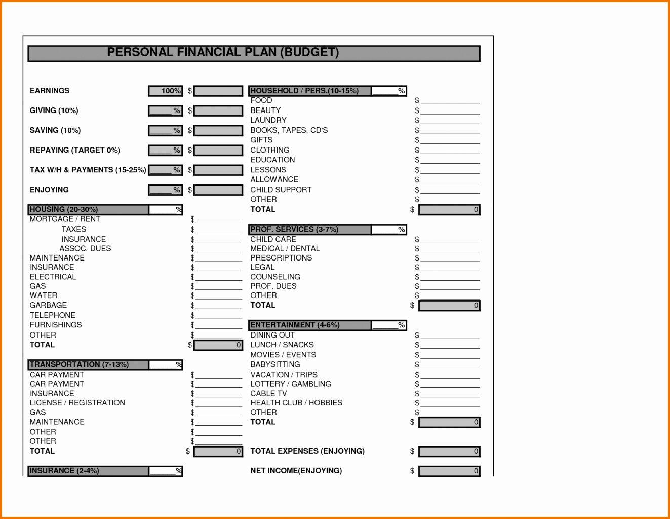 Business Financial Plan Template Excel Elegant Business Plan Financial Template Expense Spreadshee