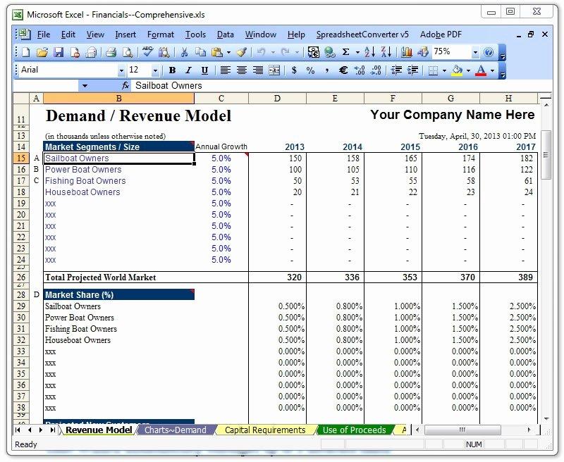 Business Financial Plan Template Excel Unique Raise Capital Bizplanbuilder Business Plan software Template