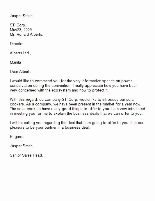 Business Introduction Letter format Fresh 40 Letter Of Introduction Templates & Examples