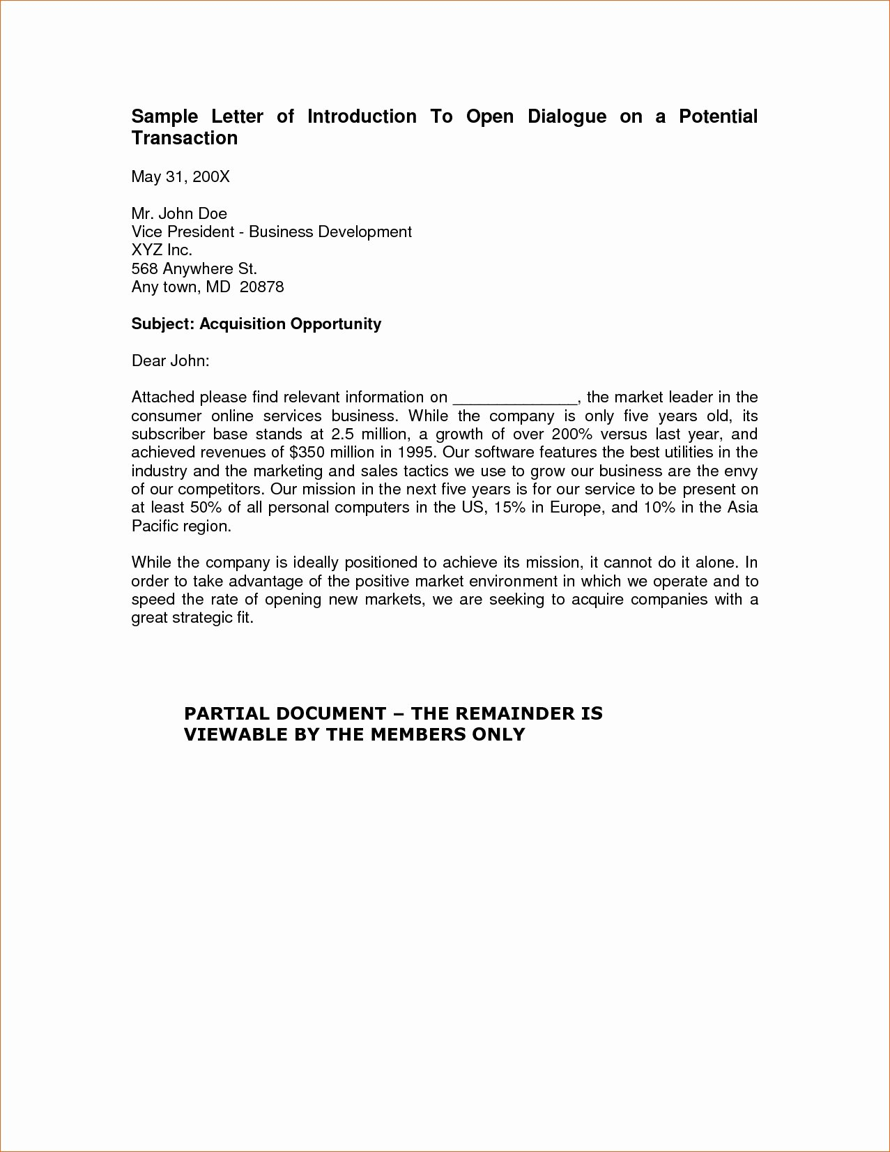 Business Introduction Letter format Inspirational Elegant Business Introduction Letter