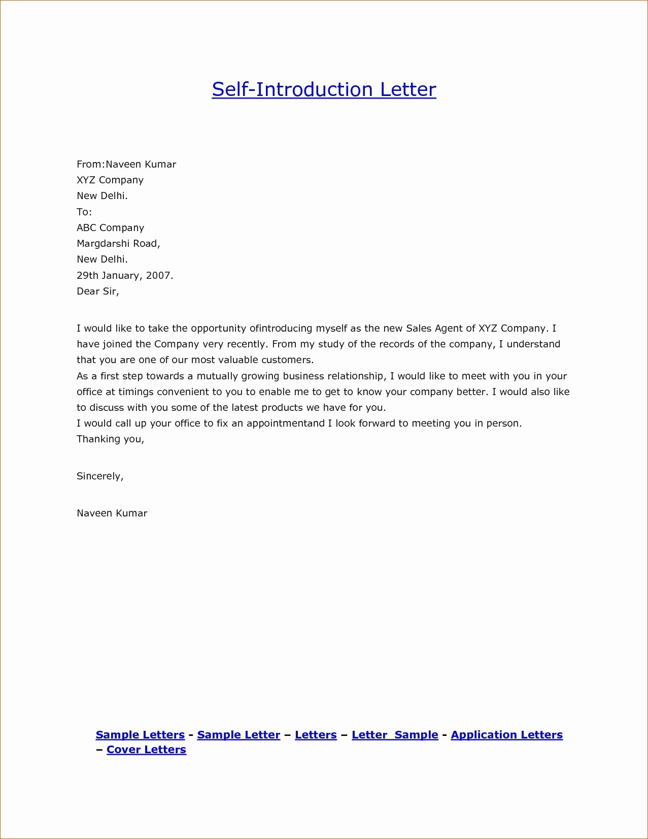 Business Introduction Letter format Lovely Business Introductory Letter Introduction for New Pdf