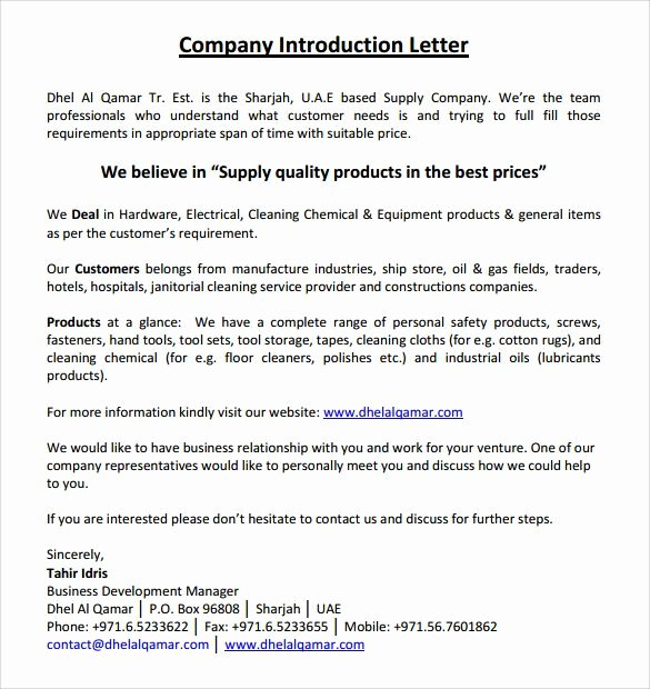 Business Introduction Letter format Lovely Image Result for Manufacturing Pany Introduction Letter