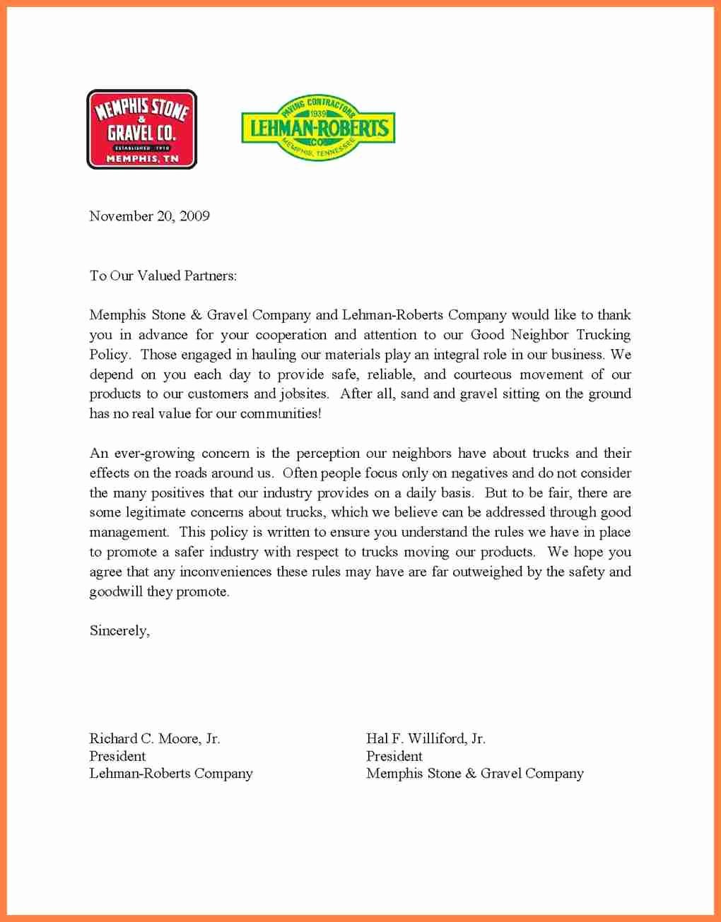 Business Introduction Letter format Unique 3 Sample Construction Pany Introduction Letter