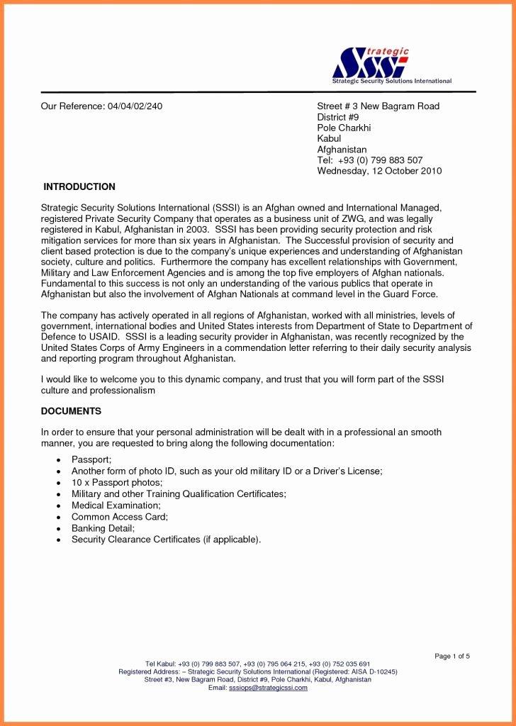 Business Introduction Letter format Unique Business Letter format Spacing