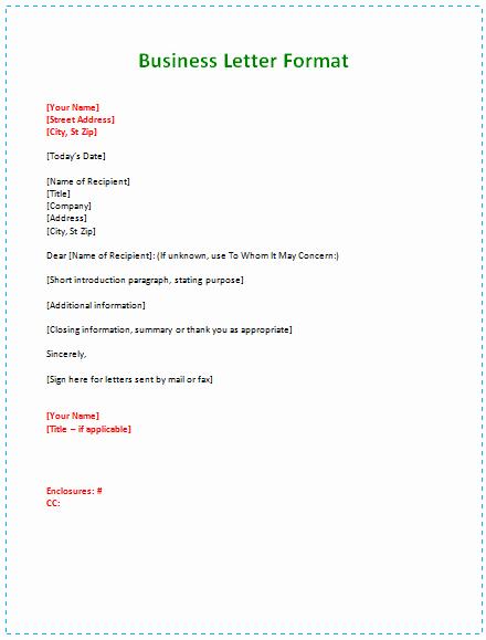Business Letter Enclosure format Fresh 6 Samples Of Business Letter format to Write A Perfect Letter