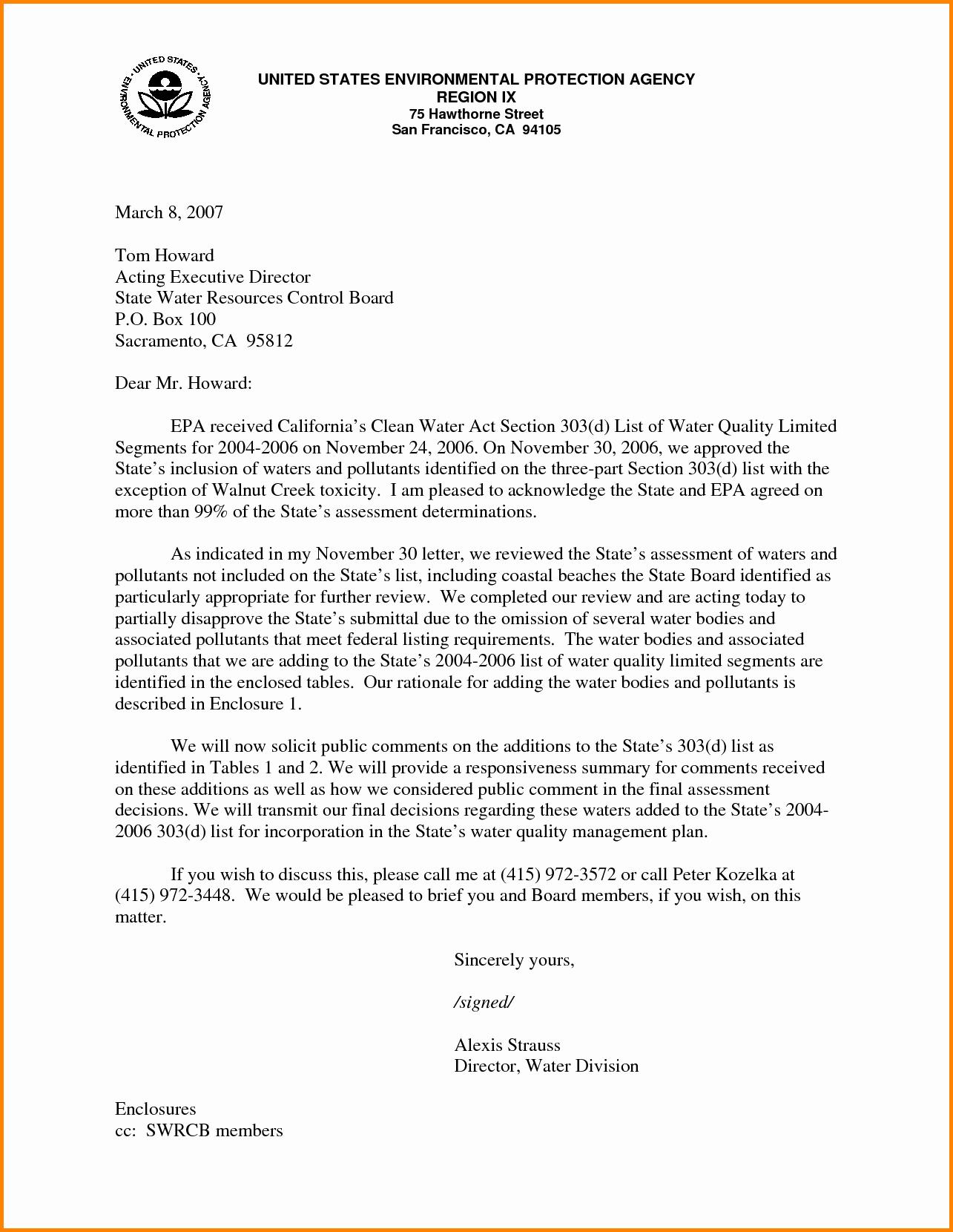 Business Letter Enclosure format Fresh Enclosed Letter format