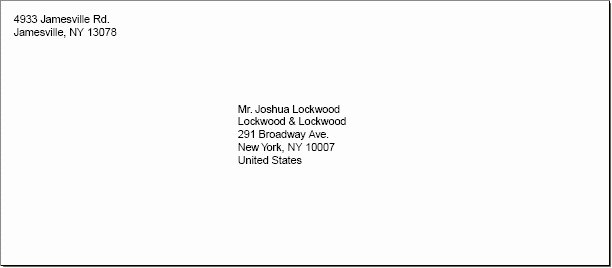 Business Letter Envelope format Beautiful Business Letter Envelope format
