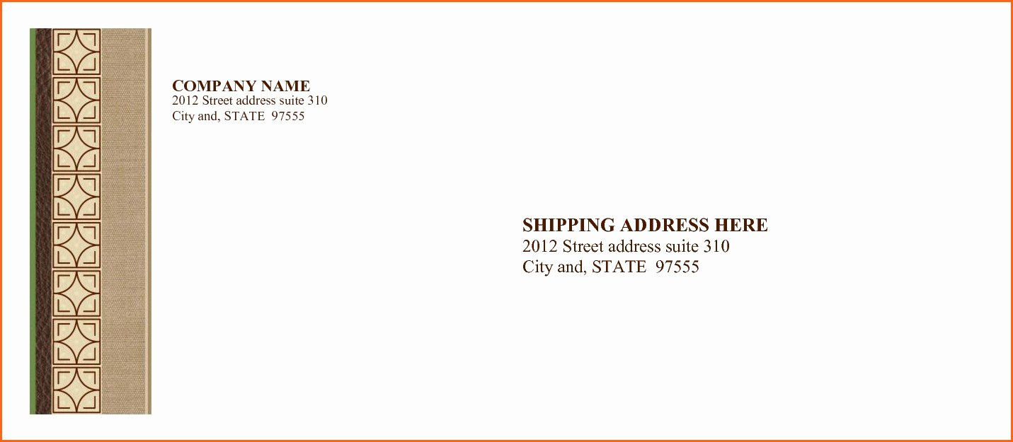 Business Letter Envelope format Luxury 6 Example Of Letter Envelope