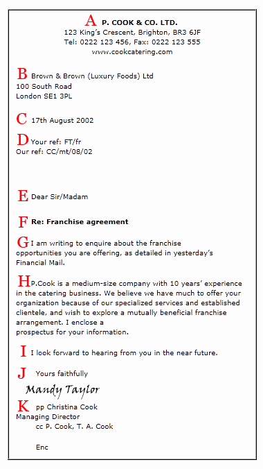 Business Letter format Cc Awesome Proper Business Letter format