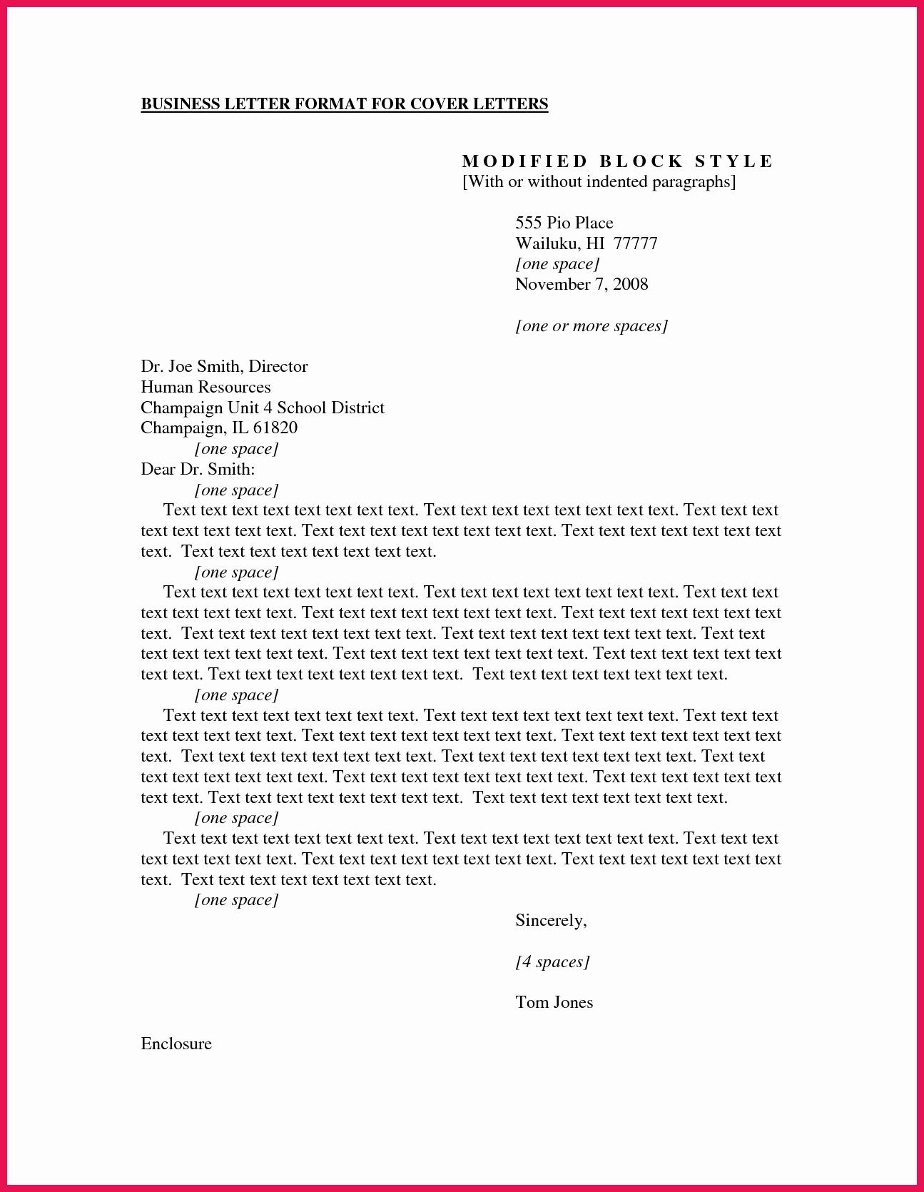 Business Letter format Purdue Owl Fresh Business Cover Letter format