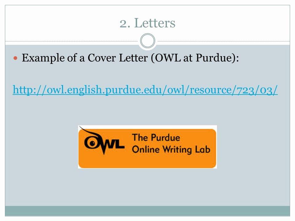 Business Letter format Purdue Owl Unique Cover Letter Owl Purdue