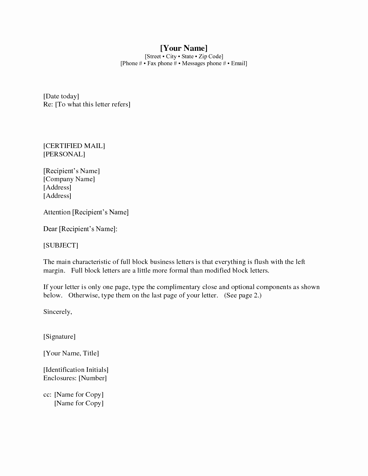 Business Letter format with Cc Lovely Sample Letter with Cc