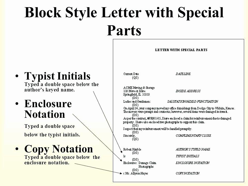 Business Letter format with Enclosure Lovely 15 Business Letter Encl