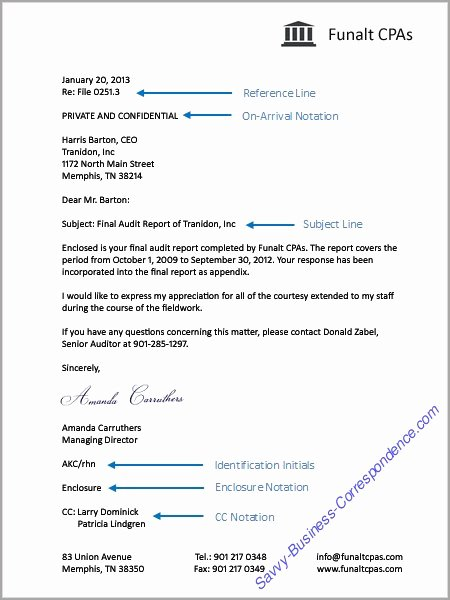 Business Letter format with Enclosure Luxury Elements Of A Business Letter