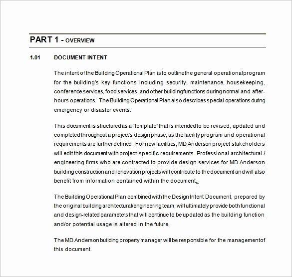 Business Operational Plan Template Beautiful 25 Operational Plan Templates Docs Pdf Word