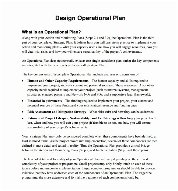 Business Operational Plan Template Elegant 25 Operational Plan Templates Docs Pdf Word