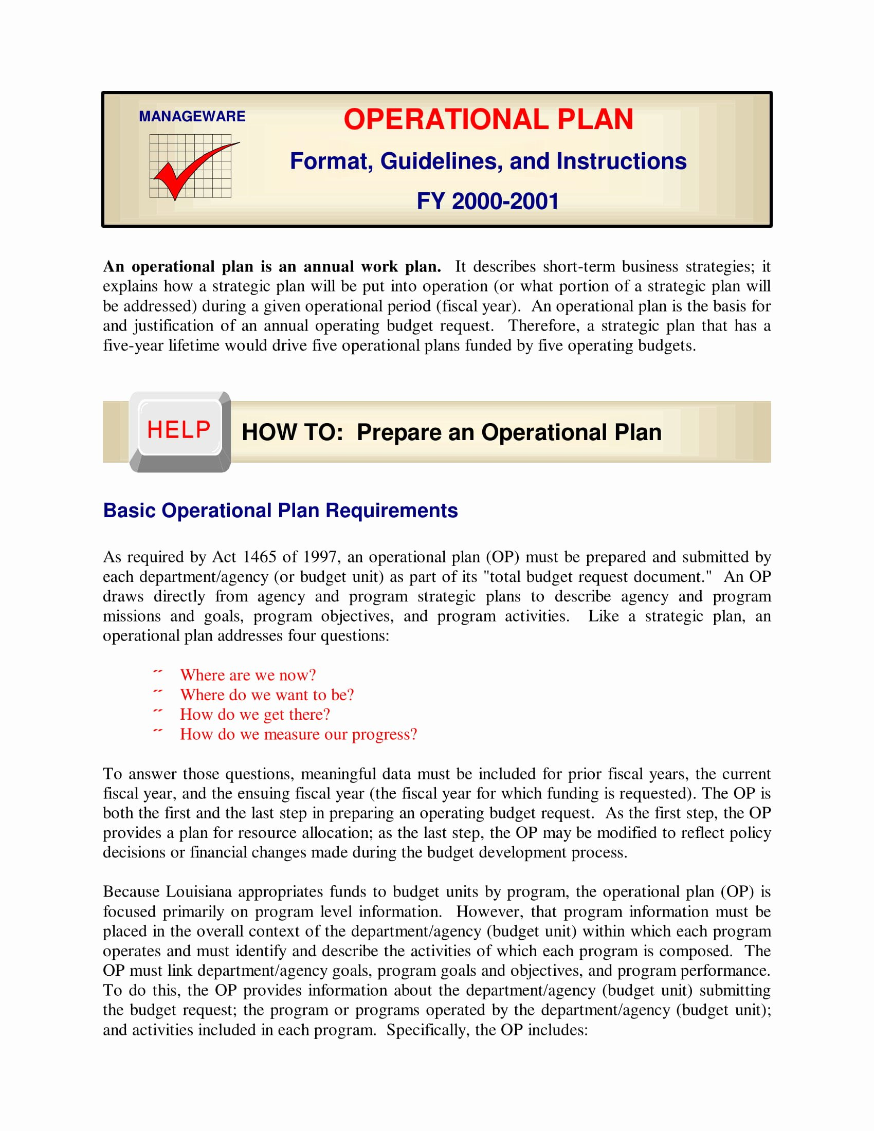 Business Operational Plan Template Inspirational 12 Operations Management Plan Template Examples Pdf