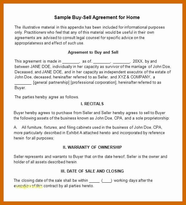 Business Partner Buyout Agreement Template Best Of 8 9 Out Agreement Sample