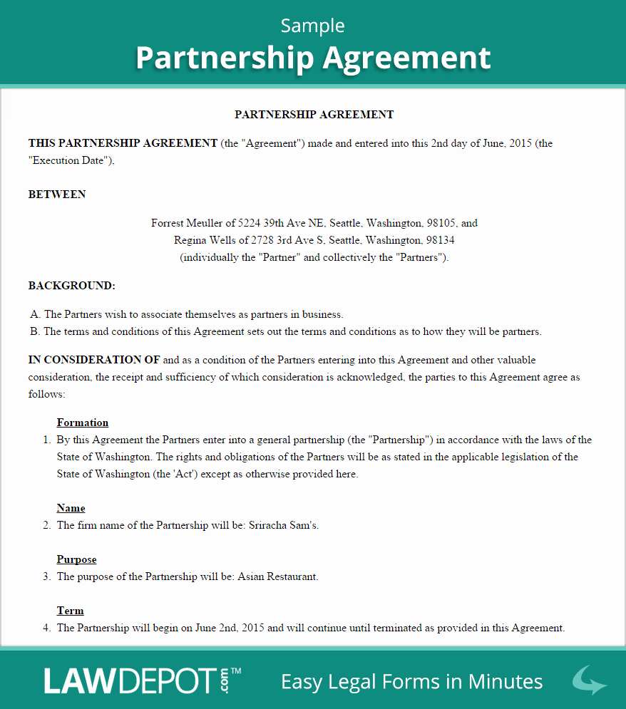 Business Partner Buyout Agreement Template Luxury Partnership Agreement Template Us